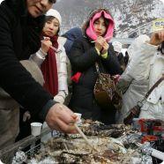 Зимняя рыбалка в Корее