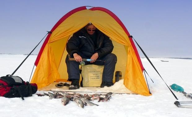 Защита от ветра на зимней рыбалке своими