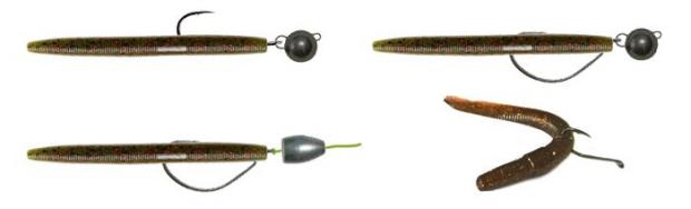 силиконовый червяк на джигу